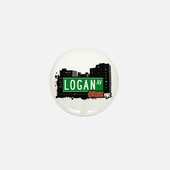 Logan Av, Bronx, NYC Mini Button