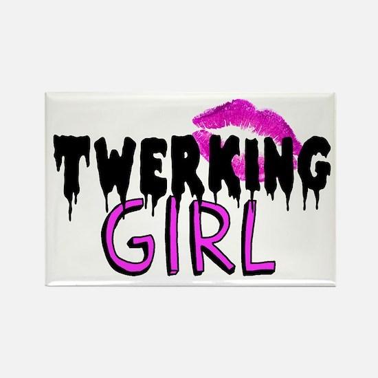 Twerking Girl Rectangle Magnet