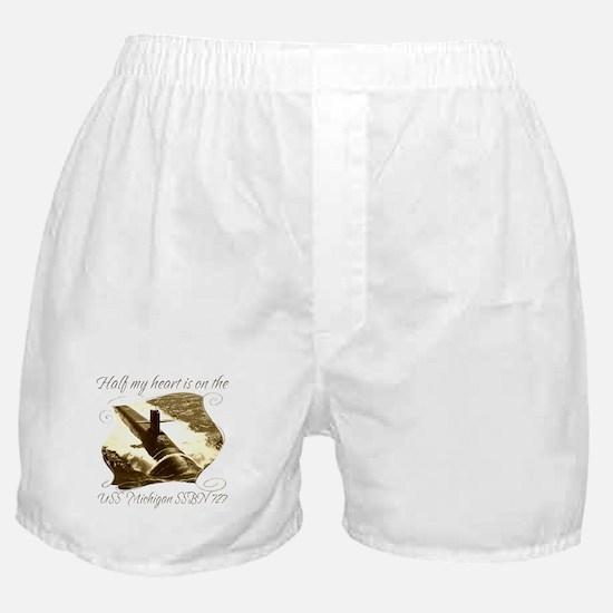 Cute Navy boyfriend Boxer Shorts