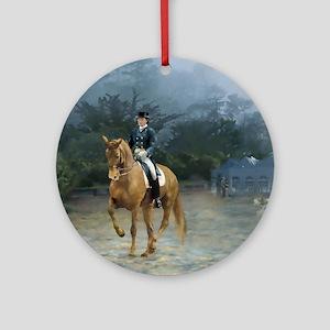 PB Piaffe Dressage Horse Round Ornament