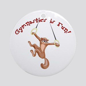 Gymnastics is Fun Ornament (Round)