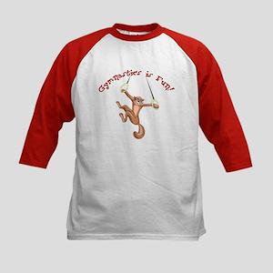 Gymnastics is Fun Kids Baseball Jersey