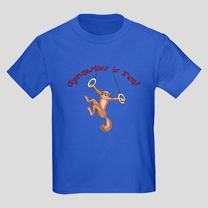 Gymnastics is Fun Kids Dark T-Shirt