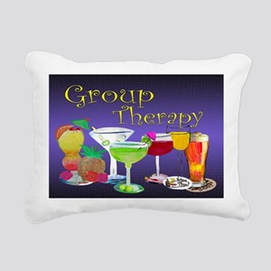Group Therapy Rectangular Canvas Pillow