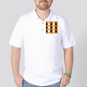 Halloween Cute Pattern Orange Black Arg Golf Shirt