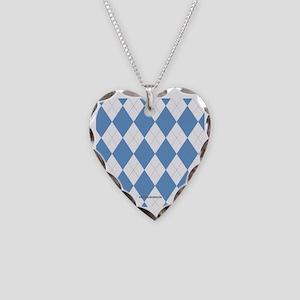 UNC Carolina Blue Argle Baske Necklace Heart Charm