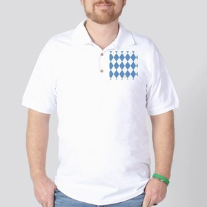 UNC Carolina Blue Argle Basketball Golf Shirt