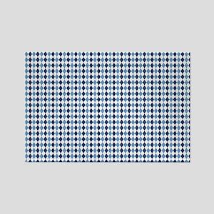 UNC Argyle Carolina Blue Tarheel Rectangle Magnet