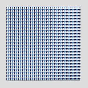 UNC Argyle Carolina Blue Tarheel Tile Coaster