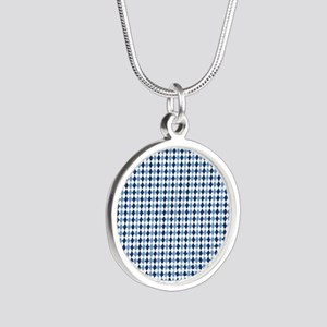 UNC Argyle Carolina Blue Tar Silver Round Necklace