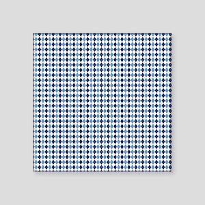 "UNC Argyle Carolina Blue Ta Square Sticker 3"" x 3"""