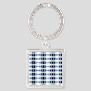 UNC Argyle Carolina Blue Tarheel Square Keychain
