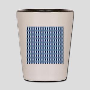 UNC Basketball Argyle Carolina Blue Shot Glass