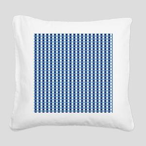 UNC Basketball Argyle Carolin Square Canvas Pillow