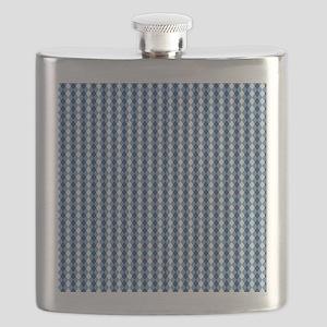 UNC Basketball Argyle Carolina Blue Flask