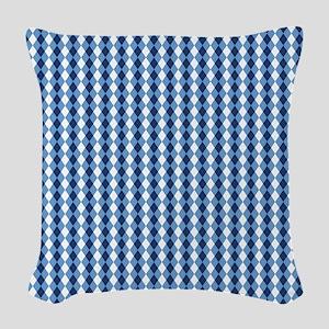UNC Basketball Argyle Carolina Woven Throw Pillow