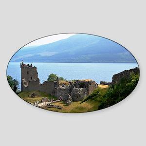 Urquhart Castle Sticker (Oval)