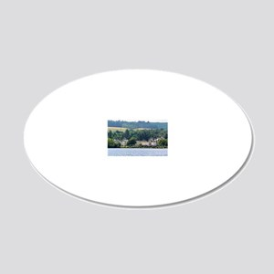 Cameron House 20x12 Oval Wall Decal