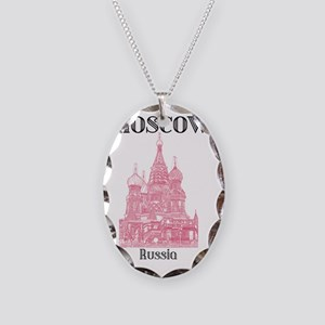 Moscow_19x26_StBasilsCathedral Necklace Oval Charm