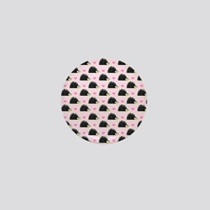 Cute Happy Hedgehog Pattern Pink Mini Button