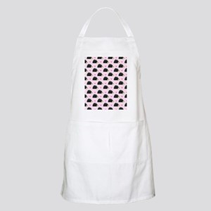 Cute Happy Hedgehog Pattern Pink Apron