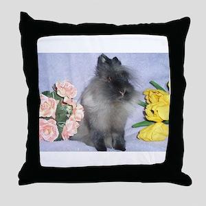 Lionhead Rabbit Throw Pillow