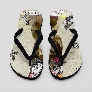 Lady Steampunk Flip Flops