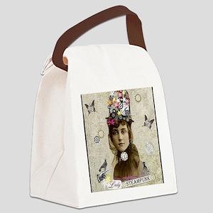 Lady Steampunk Canvas Lunch Bag