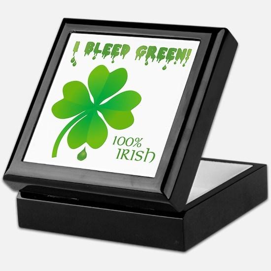 I BLEED GREEN Keepsake Box