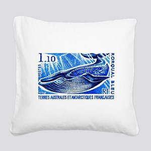 1977 French Southern Lands Blue Whale Stamp Square