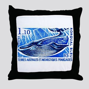 1977 French Southern Lands Blue Whale Stamp Throw