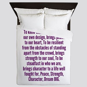 Peace, Strength, Character Queen Duvet