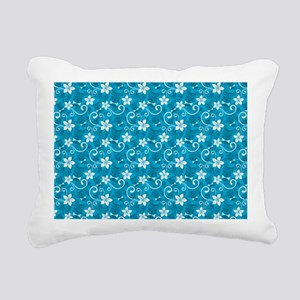 Tropical Floral Tiki Tur Rectangular Canvas Pillow