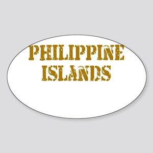Philippine Islands Oval Sticker