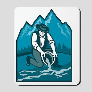 Gold Prospector Miner Pan Retro Mousepad