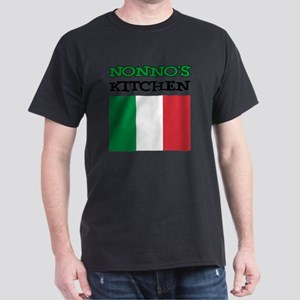 Nonnos Kitchen Italian Apron Dark T-Shirt