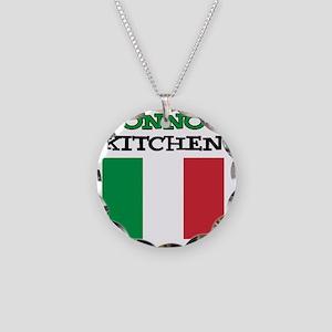 Nonnos Kitchen Italian Apron Necklace Circle Charm