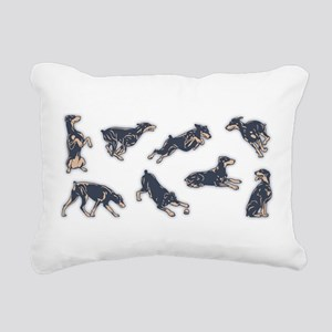 dobe-poses-LTT Rectangular Canvas Pillow
