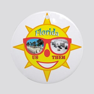 Florida 1 Round Ornament