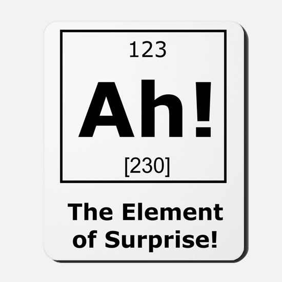 Ah! The element of surprise! Mousepad