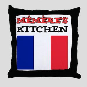 Memeres Kitchen French Apron Throw Pillow