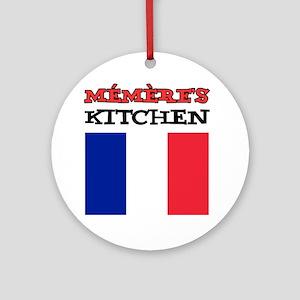Memeres Kitchen French Apron Round Ornament