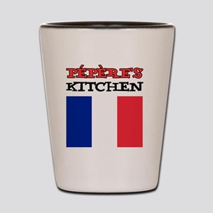 Peperes Kitchen French Apron Shot Glass