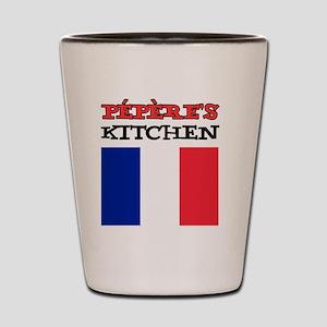 Peperes Kitchen French Apron Shot Glass
