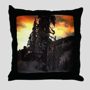 snowmobile RMK Throw Pillow