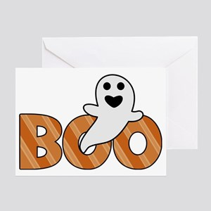 BOO Spooky Halloween Casper Greeting Card