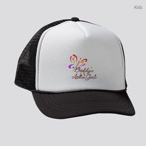 2b0131398e7 Daddys Little Girl In Pink Scarf1723056539 Kids Trucker Hats - CafePress