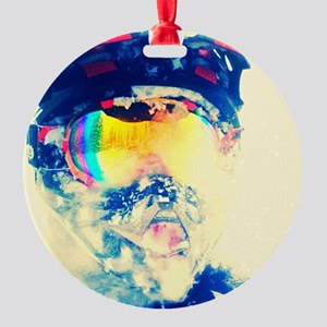 Fly racing Round Ornament