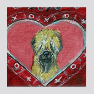 Soft Coated Wheaten Terrier Valentine Heart Tile C