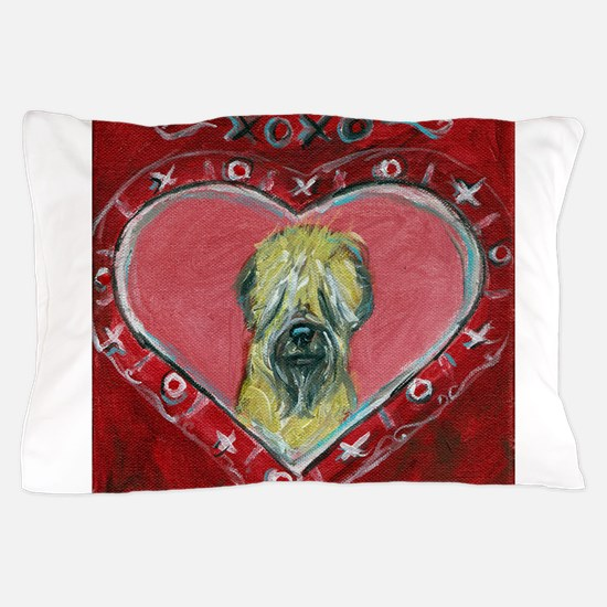 Soft Coated Wheaten Terrier Valentine Heart Pillow